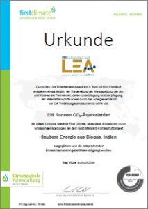 LEA-2016-Urkunde-Klimaneutral
